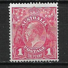 Sellos: AUSTRALIA 1914 SCOTT # 21A. 1P CARMINE ROSE (I) 20.00* - 2/16. Lote 194953505