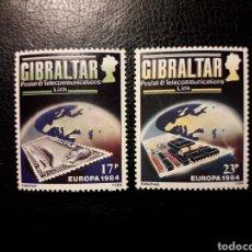Sellos: GIBRALTAR (GRAN BRETAÑA) YVERT 483/4 SERIE COMPLETA NUEVA ***. EUROPA CEPT.. Lote 194966227