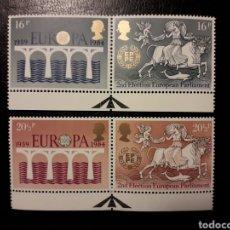 Sellos: GRAN BRETAÑA YVERT 1126/9 SERIE COMPLETA NUEVA ***. EUROPA CEPT. PUENTES. Lote 194966643
