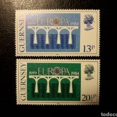 Sellos: GUERNSEY (GRAN BRETAÑA)YVERT 286/7 SERIE COMPLETA NUEVA ***. EUROPA CEPT. PUENTES.. Lote 194979151
