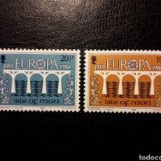Sellos: ISLA DE MAN (GRAN BRETAÑA)YVERT 251/2 SERIE COMPLETA NUEVA ***. EUROPA CEPT. PUENTES.. Lote 194979162