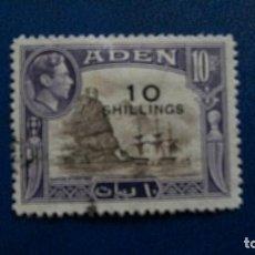 Sellos: /23.02/-ADEN / COLONIA BRITANICA-1951-10S.. S. 10R. Y&T 46 EN USADO /º/. Lote 195004655