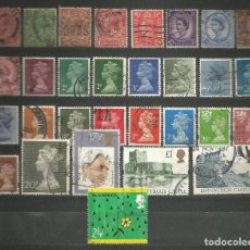 Sellos: INGLATERRA-LOTE DE 30 SELLOS USADOS DIFERENTES.. Lote 195099462