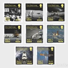 Sellos: ISLE OF MAN 2020 - ONE GIANT LEAP - EXPLORING THE MOON AND SPACE STAMP SET MNH. Lote 195284572
