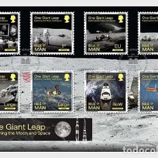 Sellos: ISLE OF MAN 2020 - ONE GIANT LEAP - EXPLORING THE MOON AND SPACE FDC. Lote 195284691
