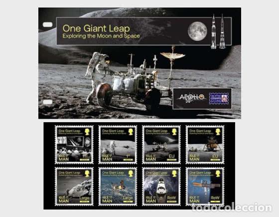 ISLE OF MAN 2020 - ONE GIANT LEAP - EXPLORING THE MOON AND SPACE PRESENTATION PACK (Sellos - Extranjero - Europa - Gran Bretaña)