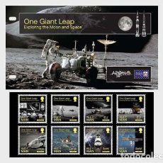 Sellos: ISLE OF MAN 2020 - ONE GIANT LEAP - EXPLORING THE MOON AND SPACE PRESENTATION PACK. Lote 195284787