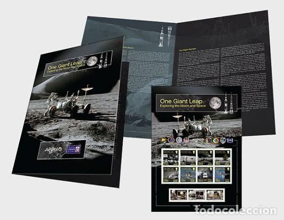 ISLE OF MAN 2020 - ONE GIANT LEAP - EXPLORING THE MOON AND SPACE COMMEMORATIVE SHEETLET (Sellos - Extranjero - Europa - Gran Bretaña)