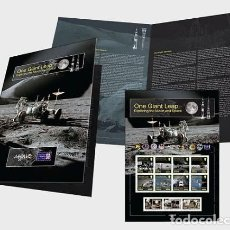 Sellos: ISLE OF MAN 2020 - ONE GIANT LEAP - EXPLORING THE MOON AND SPACE COMMEMORATIVE SHEETLET . Lote 195284877
