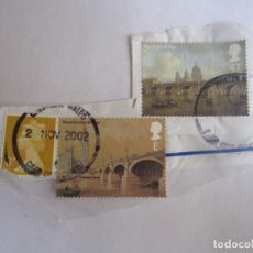 Sellos: 3 SELLOS DE GRAN BRETAÑA. Lote 195545965