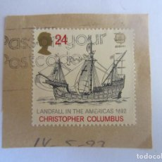 Sellos: SELLO DE GRAN BRETAÑA. CHRISTOPHER COLUMBUS. CRISTOBAL COLON. Lote 195546305