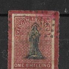 Sellos: VIRGIN ISLANDS YVERT 17- 1888 BLACK & ROSE-CARMINE. ISLAS VIRGENES. Lote 196279265
