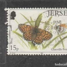 Sellos: JERSEY 1991 - YVERT NRO. 543 - USADO -DIENTE CORTO. Lote 198094361