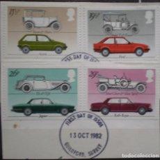Sellos: INGLATERRA - IVERT 1058/63 - USADOS - INDUSTRIA BRITANICA AUTOMOVILES - LOS DE LA FOTO. Lote 200044230