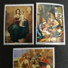 Sellos: GRAN BRETAÑA N°499/01 MNH** NAVIDAD 1967, PINTURA RELIGIOSA (FOTOGRAFÍA REAL). Lote 263161565
