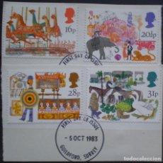 Sellos: INGLATERRA - IVERT 1104/07 - USADOS - FERIAS BRITANICAS - LOS DE LA FOTO. Lote 200089783