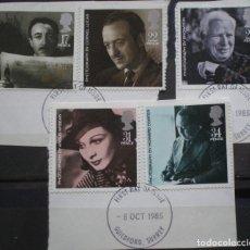 Sellos: INGLATERRA - IVERT 1195/99 - CINE BRITANICOS. ACTORES Y DIRECTORES - LOS DE LA FOTO. Lote 200189370