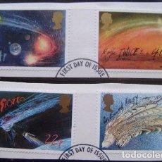 Sellos: INGLATERRA - IVERT 1214/17 - EL COMETA HALLEY - LOS DE LA FOTO. Lote 200189448