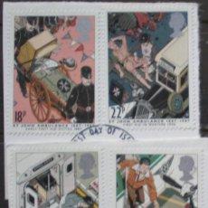 Sellos: INGLATERRA - IVERT 1266/69 - 50 ANIV. AMBULACIAS SAINT-JOHN - LOS DE LA FOTO. Lote 200189757