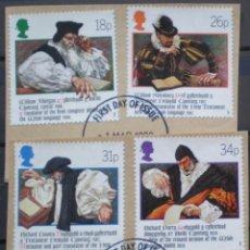 Sellos: INGLATERRA - IVERT 1303/06 - PRIMERA TRADUCCION DE LA BIBLIA EN GALES - LOS DE LA FOTO. Lote 200189880