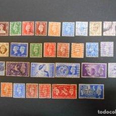 Sellos: GRAN BRETAÑA-LOTE DE 30 SELLOS-REY JORGE VI-1937 A 1951. Lote 200655495