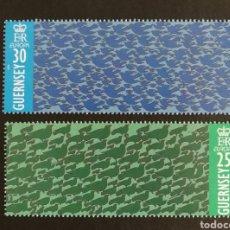 Sellos: GUERNESEY, EUROPA CEPT 1995 MNH, PAZ Y LIBERTAD (FOTOGRAFÍA REAL). Lote 203372052