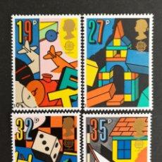 Sellos: GRAN BRETAÑA, EUROPA CEPT 1989 MNH, JUEGOS INFANTILES (FOTOGRAFÍA REAL). Lote 204059563
