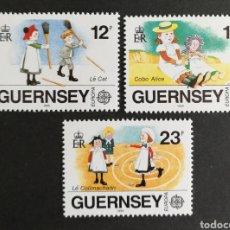 Sellos: GUERNESEY, EUROPA CEPT 1989 MNH, JUEGOS INFANTILES (FOTOGRAFÍA REAL). Lote 204060085