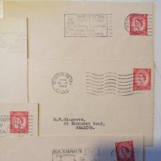 Sellos: INGLATERRA 5 SOBRES MATASELLOS ESPECIALES NUEVOS. Lote 204195755