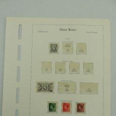 Francobolli: HOJA CON SELLOS DE GRAN BRETANIA AÑO 1934/36. Lote 204978696