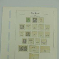 Francobolli: HOJA CON SELLO DE GRAN BRETAÑA AÑO 1912/22. Lote 204979920