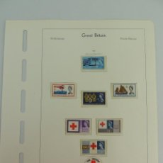 Sellos: HOJA CON SELLOS DE GRAN BRETAÑA AÑO 1963. Lote 204987455