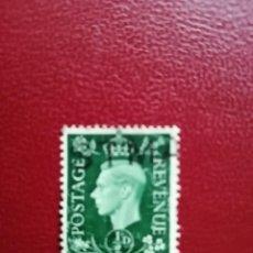 Selos: GRAN BRETAÑA - VALOR FACIAL 1/2 D - REY JORGE VI - YV 209 - SC 235. Lote 205606611