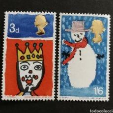 Sellos: GRAN BRETAÑA, NAVIDAD 1966 MH (FOTOGRAFÍA REAL). Lote 205841437