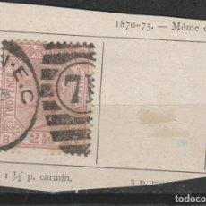 Sellos: LOTE (13) SELLO GRAN BRETAÑA 1870-73 UNOS 50 EUROS. Lote 206173366