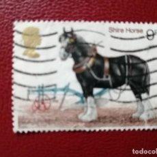 Selos: GRAN BRETAÑA - VALOR FACIAL 9 P - AÑO 1978 - YV 868 - SHIRE HORSE - CABALLO. Lote 206331730