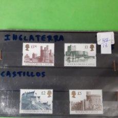 Sellos: CASTILLOS SERIE COMPLETA NUEVA 1615/18 GRAN BRETAÑA INGLATERRA. Lote 206522522