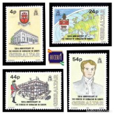 Sellos: GIBRALTAR 1992.YT 655-58, MI 646-49. 150TH ANNIVERSARY OF THE DIOCESE OF GIBRALTAR. NUEVO** MNH. Lote 207000507