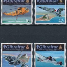 Sellos: GIBRALTAR 2012 MICHEL 1473/76 *** ESCUADRON DE LA ROYAL AIR FORCE (I) - AVIONES. Lote 207516378
