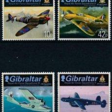 Sellos: GIBRALTAR 2013 IVERT 1526/29 *** ESCUADRON DE LA ROYAL AIR FORCE (II) - AVIONES. Lote 207516425