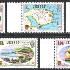 Sellos: JERSEY, 1978 YVERT Nº 174 / 178 /**/ CANADÁ. Lote 207565575