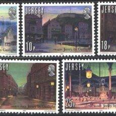 Sellos: JERSEY, 1981 YVERT Nº 251 / 255 /**/, ANIVERSARIO DE LA INTRODUCCIÓN DEL GAS. Lote 207565661