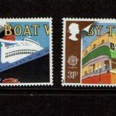Sellos: SERIE EUROPA GREAT BRITAIN 1988 TRANSPORTES Y SERVICIOS DE CORREOS. NUEVOS. Lote 207966097