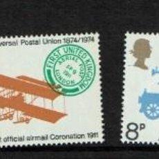 Sellos: SERIE CENTENARIO DE UNION POSTAL UNIVERSAL GREAT BRITAIN 1974. NUEVOS. Lote 207968332