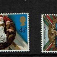 Sellos: SERIE NAVIDAD GREAT BRITAIN 1974. NUEVOS. Lote 207969242