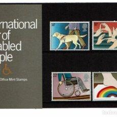 Sellos: SERIE AÑO INTERNACIONAL DISCAPACITADOS 1981. NUEVOS.. Lote 207973611