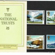 Sellos: SERIE ANIVERSARIO DEL NATIONAL TRUST ESCOCIA 1981. NUEVOS.. Lote 207974116