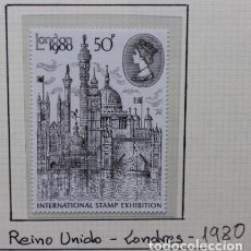 Sellos: REINO UNIDO: LONDRES. INTERNATIONAL STAMP EXHIBITION 1980 LONDON'80. Lote 208006995