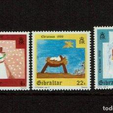 Sellos: SERIE NAVIDAD 1988 GIBRALTAR. NUEVOS.. Lote 208093927