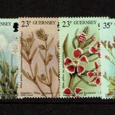 Sellos: SERIE FLORES GUERNSEY. NUEVO. 1988 432-437. Lote 208095906